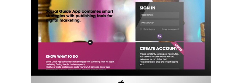 Webbapplikation – Social Guide App